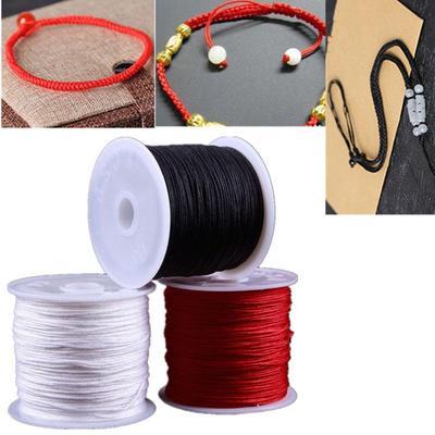 Handmade DIY Off-white Cotton Knitting Braided Decorative Yarn Luggage Drawstring Curtain Tied Rope
