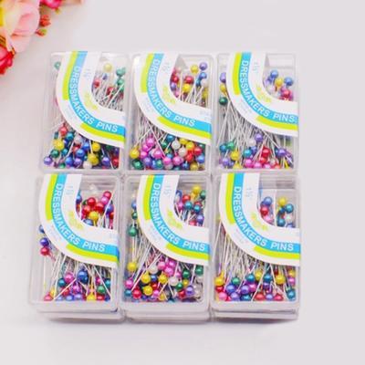 100PCSlot Sewing Pin DIY Dressmaking Colorful Round