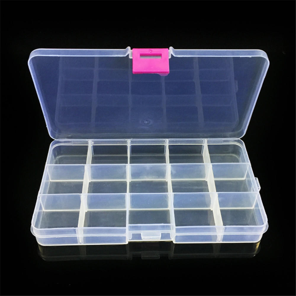 Plastic Fishing Bait Organizer Box Lures Tackle Fisher Gear Bulk With 20 Case