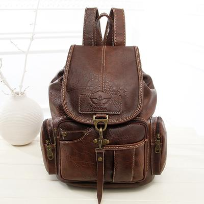 Leather Women Backpack Shoulder Bag Female Retro Soft Leather Ladies Fashion Casual Wild