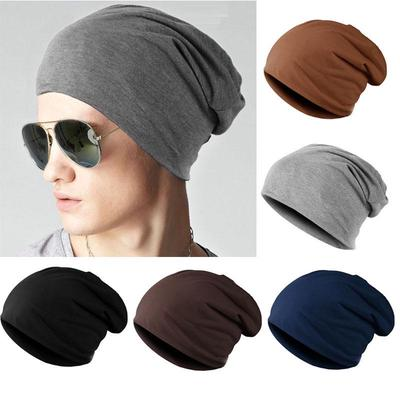 FAITOLAGI Men Women Fashion Knitted Hats Solid Color Soft Cotton Hip-hop Slouch Beanies