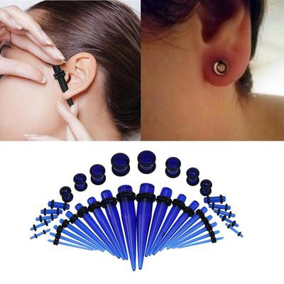 Acrylic Ear Tapers and Spirals Kit Stretchers Expanders Plugs Stretching Set