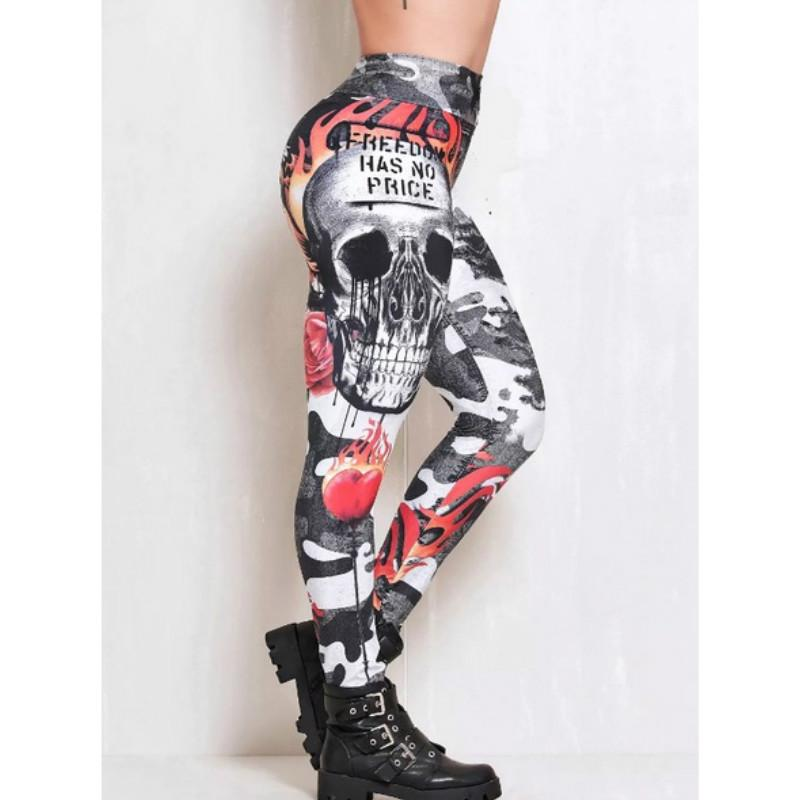 Womens Gothic Black Trousers Fashion Cool Trouser S-XL Rock Tights Ladies Casual Leggings Tight Bandage Pants