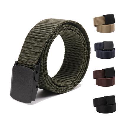 Men's Tactical Belt Hypoallergenic Buckle Men and Women Outdoor Security Training Non-metallic Nylon Security Belt Hottest Clothing Accessories