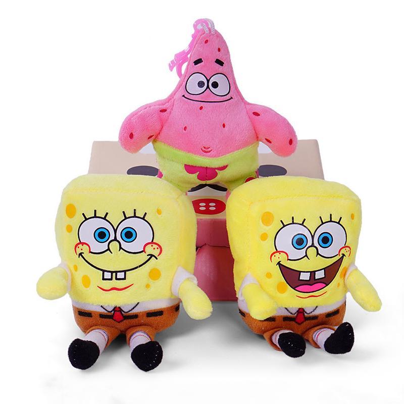 Spongebob and Patrick 6 Inch Stuffed Plush Doll Toy Set of 2