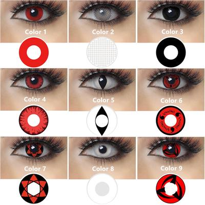 Halloween Costume Naruto White Red Black Blue Green Color Cosplay Contact Lenses For Eyes Buy At A Low Prices On Joom E Commerce Platform