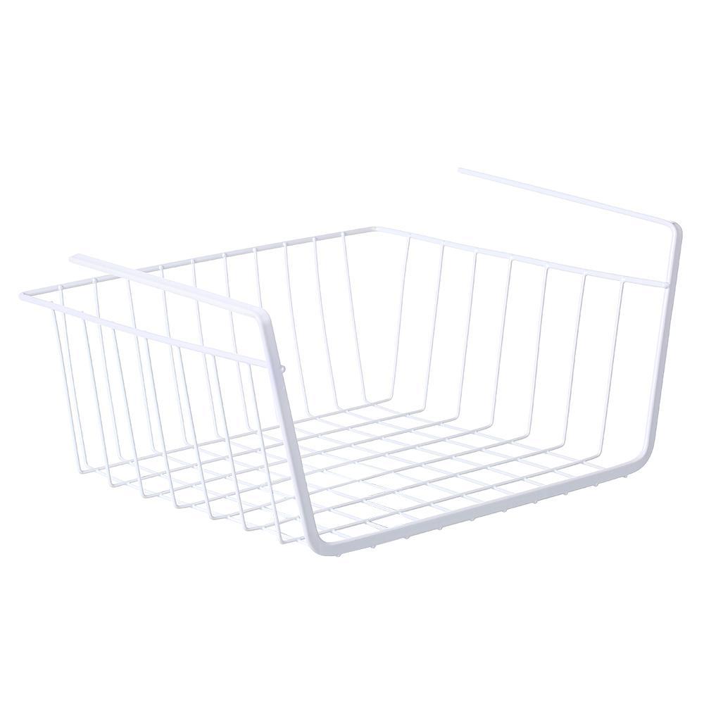 Storage Shelf Hanging Under Desk Basket Stand Holder Cable Sundries Organizer