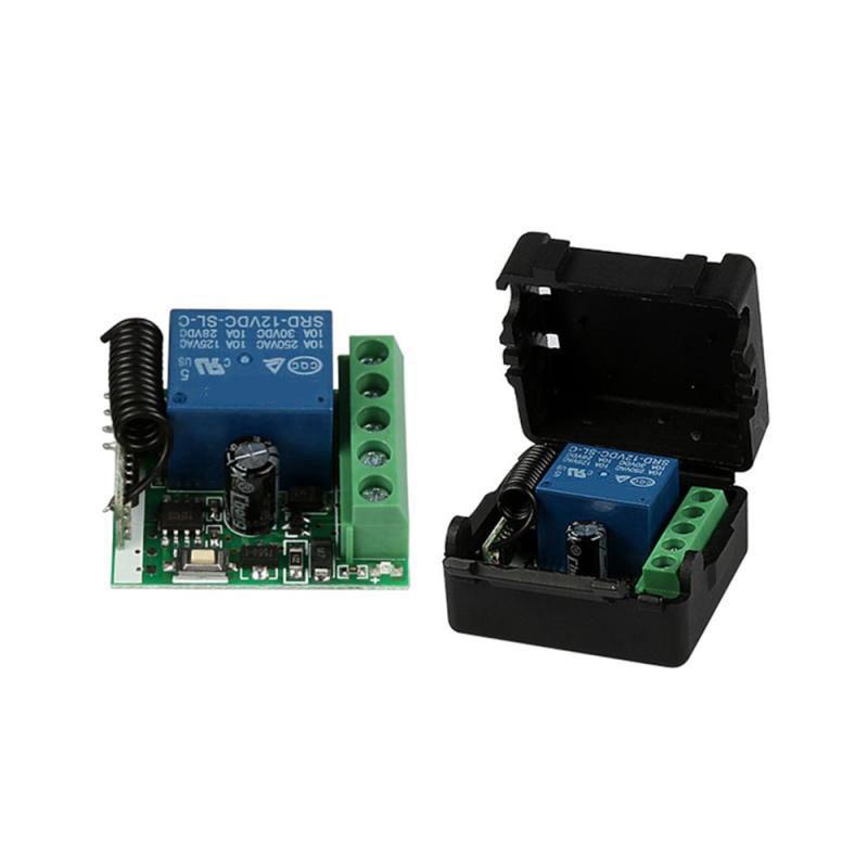 4CH Funk Fernbedienung Relaisschalter 433MHz 12V Sender /& Empfänger Modul