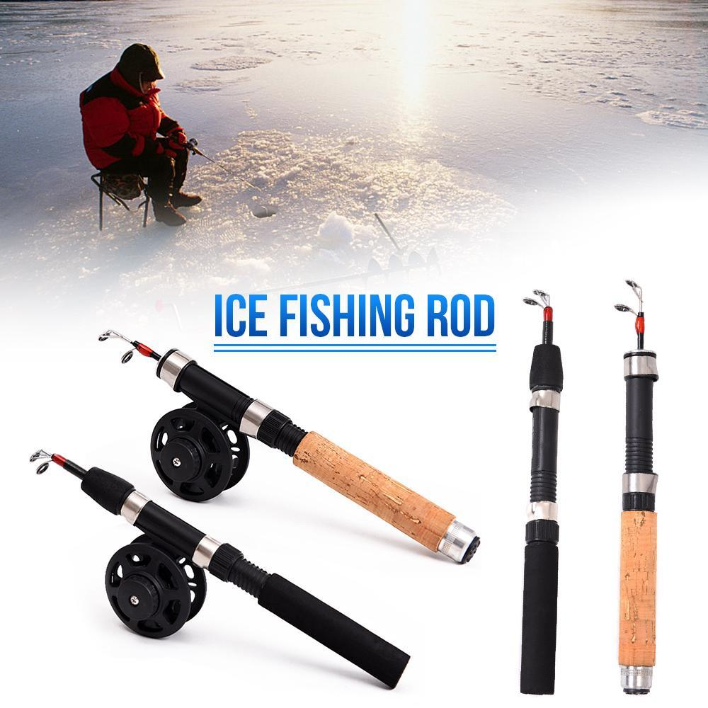 Details about  /1Pc Winter ice Fishing Rod Ultralight Portable  Fishing Rod Mini Fishing TackleS