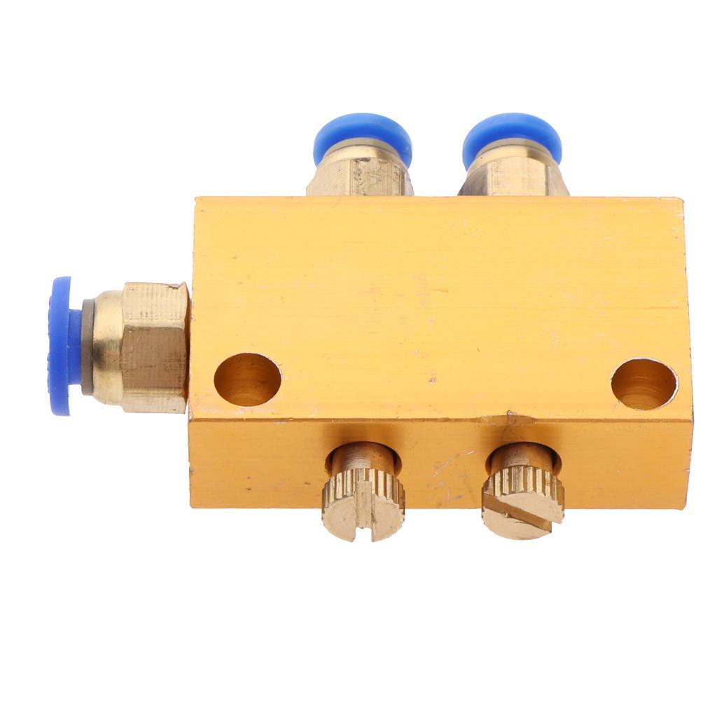Sizes 2//3//4//5//6 Ways Aluminum Lube Oil Piston Distributor Value Manifold Block