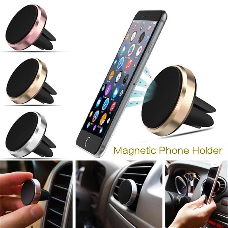 Автомобиль Телефон Держатель Магнитный воздух Vent Маунт Мобильный смартфон Стенд Магнит поддержки ячейки в автомобиле