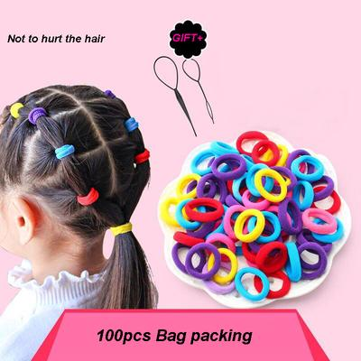 240 pcs Elastic Hair Ties Ponytail Rubber Bands Scrunchies for Women Girls