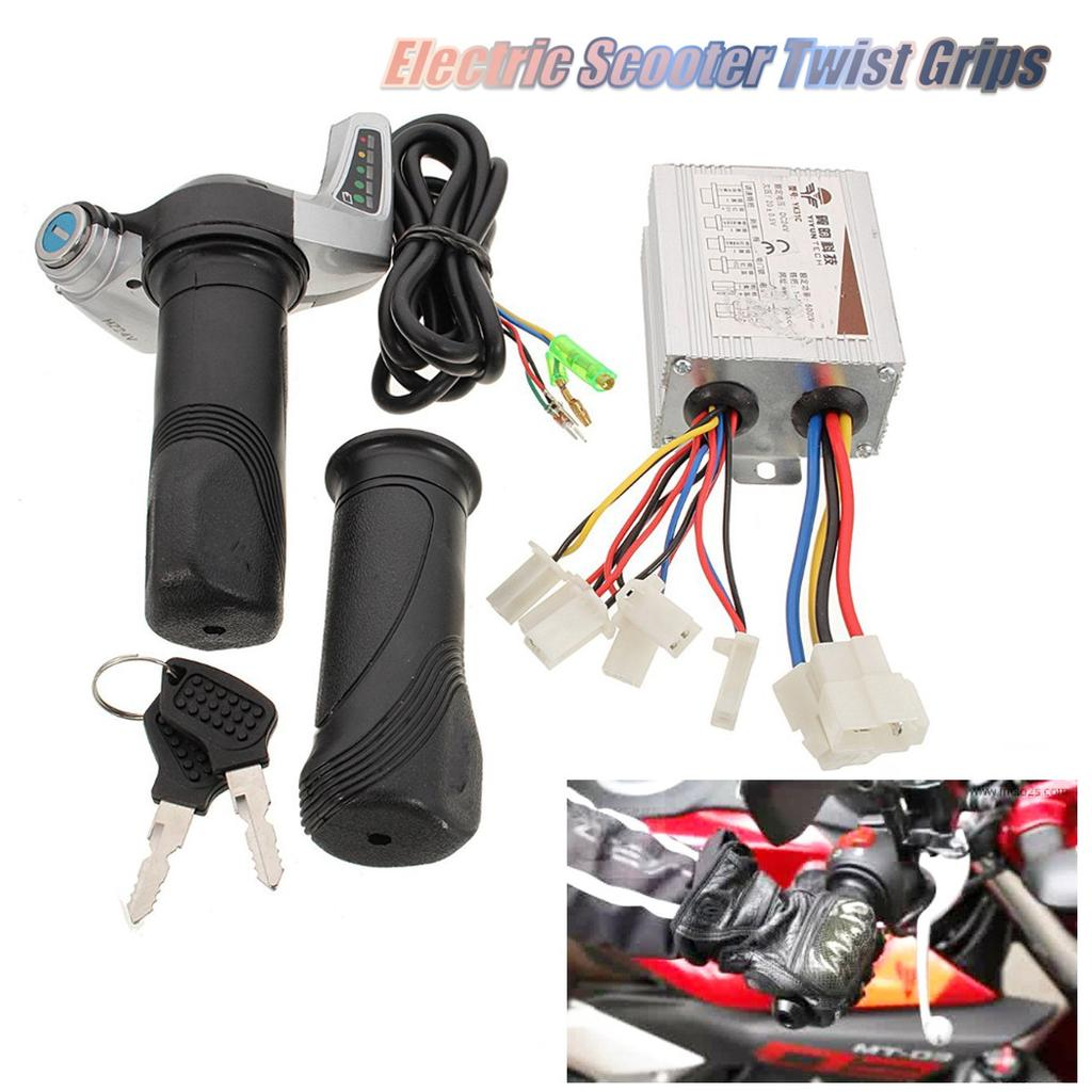 36V 350W Electric Bicycle Scooter Brushed Motor Speed Controller Throttle Grips