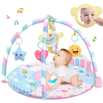 Baby Playpen Piano Gym Fitness Frame with Pedals Music Game Gym Toy for 0-1 Year Baby
