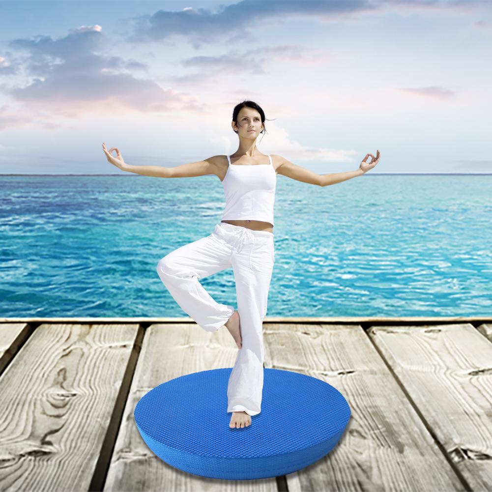 Details about  /RGB TPE Balance Pad Non-slid Yoga Cushion Soft Stability Trainer Balance Bricks