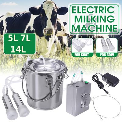 5L Portable Electric Milking Machine Vacuum Impulse Pump Cow Milker New set