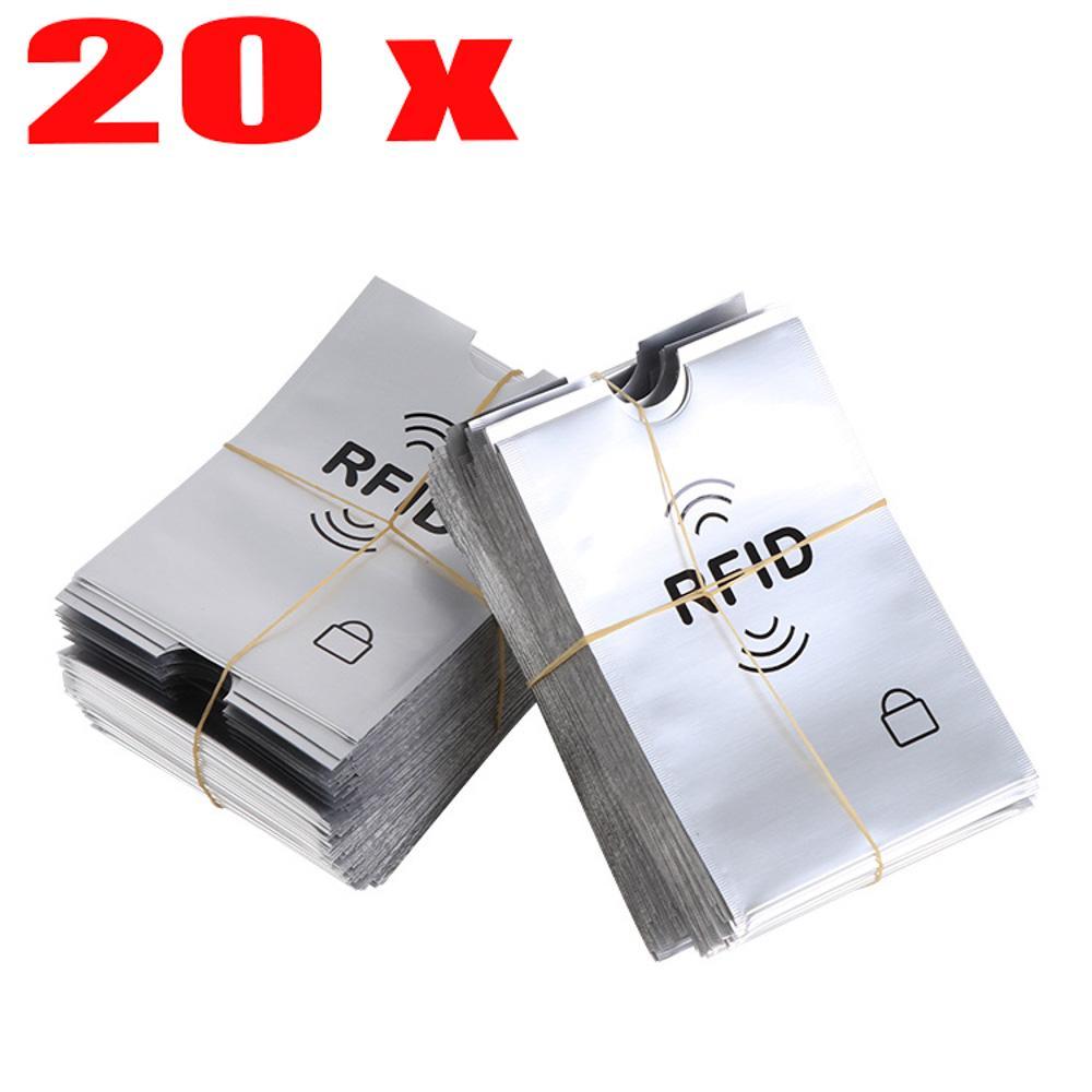 20шт RFID карты рукав бумажник блокирование бесконтактных протектор дебет кредит фото