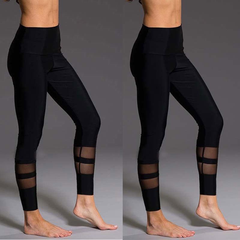 Йога Фитнес леггинсы тренажерный зал натяжные спорта высокой талией брюки брюки – купить по низким ценам в интернет-магазине Joom