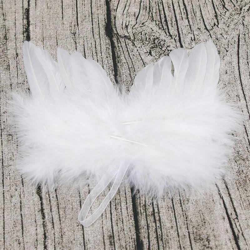 10 un Colgante Alas de ángel de plumas blancas Vintage Fiesta Árbol De Navidad Decoración