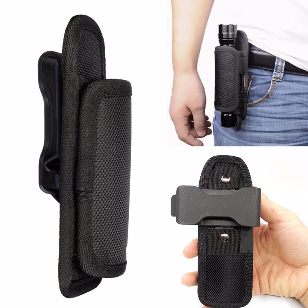 Flashlight Holder Tactical Flash Lights Holster Pouch Holder Nylon Fit Belt New