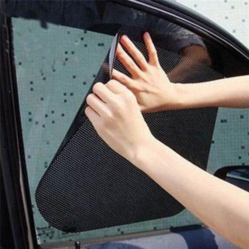 2x Car Auto Side Window Mesh Film Windshield Net Sun shade Sticker UV Protect Ww