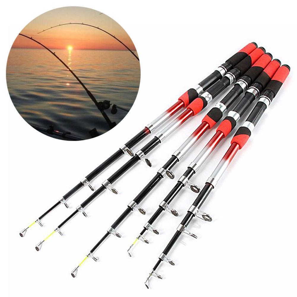 1.8m-3.4m Portable Ultralight Travel Telescopic Fishing Rod Sea Spinning Pole