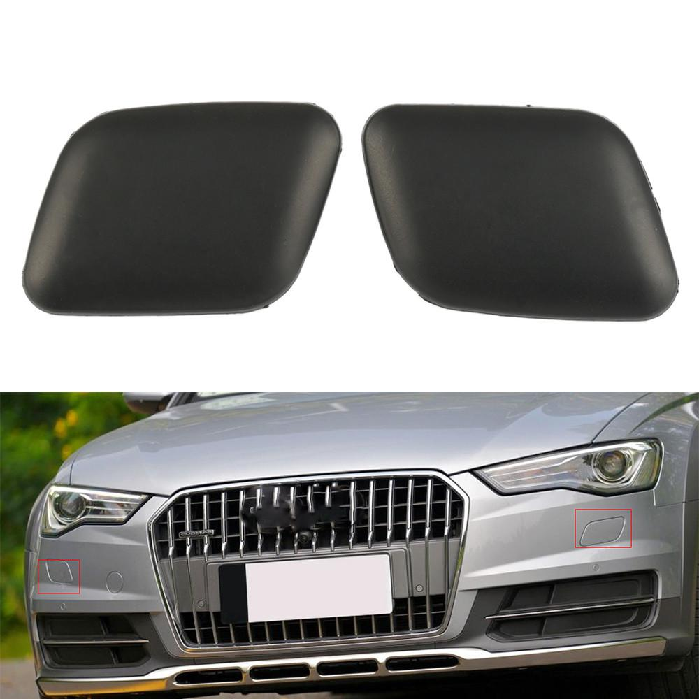 Pair Front bumper Headlight Washer Covers Caps For 2009-2012 VW CC