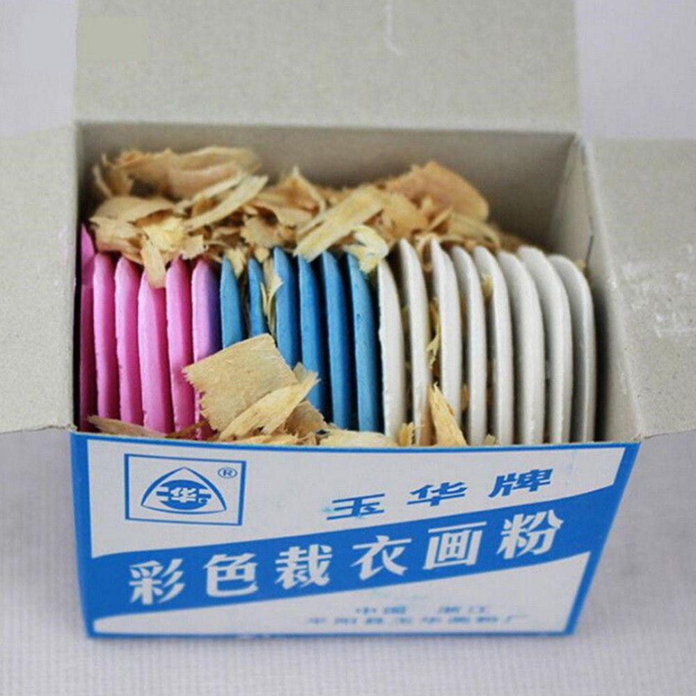 1 Box Tailors Chalks Clothing DIY Colorful Markers Dressmaker Erasable Sewing Fabric Chalk Professional Tailors Chalk Triangle Tailors Fabric Marker Chalk 10 pieces in one box