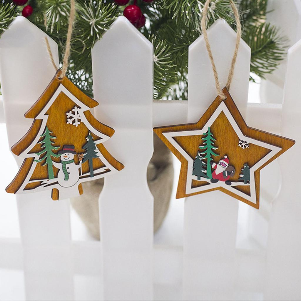 Ornaments Sepak Takraw Pentagram Shape ArtifIcial Rattan Star Christmas Gift