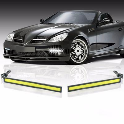 2pcs Waterproof 12V LED COB Car Auto DRL Driving Daytime Running Lamp Fog LightS