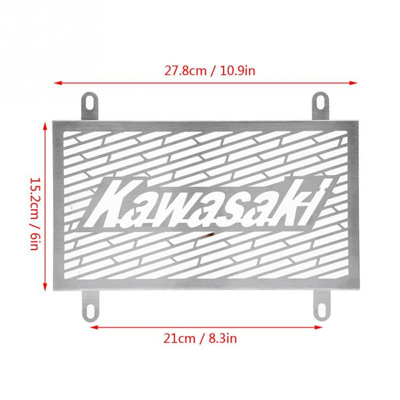 Motorcycle Radiator Grille Guard Cover Protector Stainless Steel Radiator Grill for Z250 Z300 13-16