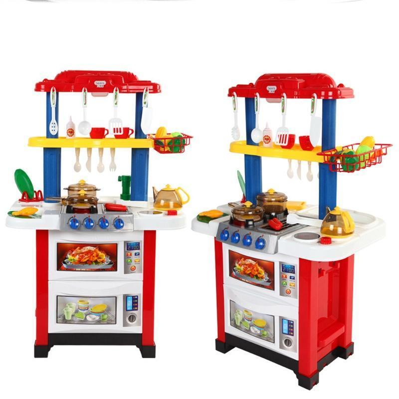 Spielen Sie Küche Set Kunststoff Kind essen Obst Küche kochen ...