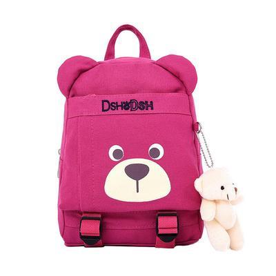 Small Bear Pendant Kindergarten Backpack Cute Child Backpack Kids Bookbag efb47b0d8645b