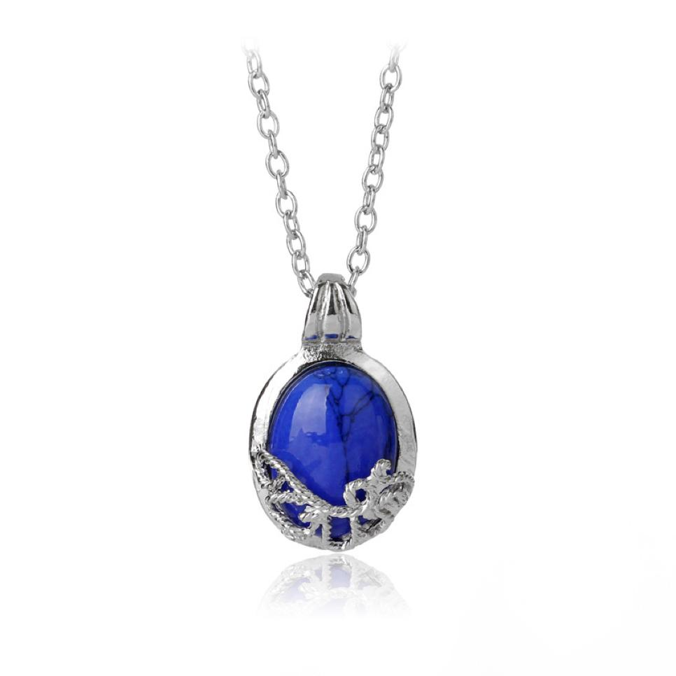 Vintage Katherine Anti-sunlight Lapis Lazuli Necklace Hot