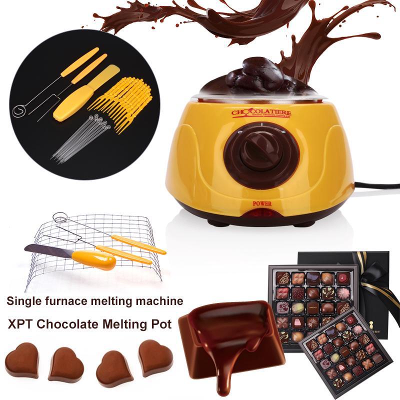 Chocolate Melting Pot Eu Plug Family Candy Melter Machine Mini Moulds Melting Cheese Pot