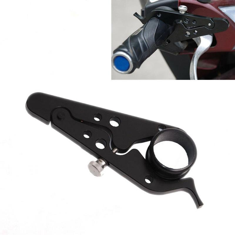 Black CNC Motorcycle Throttle Cruise Control Assist Lock Hand Grip Accessories