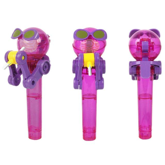 Funny Lollipop Holder Toy Lollipop Robot Decompression Candy Dustproof Kids Gift