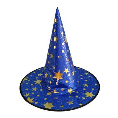 Halloween bruja sombrero traje fiesta brillo decoración estrellas bruja  sombrero Cospaly vestuario Prop e775d564738