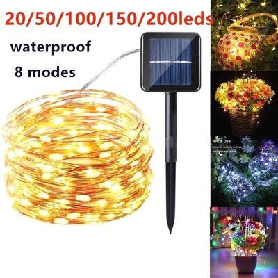50//100//200Led Solar Power String Light Solar Garden Outdoor Lights Party Decora