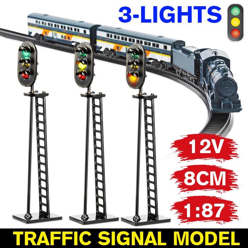 10 pcs Model Street Lights HO Scale Model Trains Copper painted 1:87 Supplies
