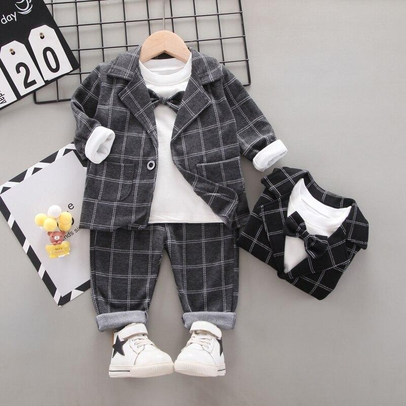 US Toddler Baby Girl Infant Clothes Plaid Coat Tops Pants 3PCS Outfits Tracksuit