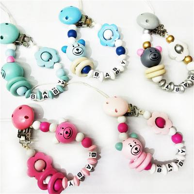 Teething Infant Feeding Baby Pacifier Clip Teether Holder Dummy Chain Nipple