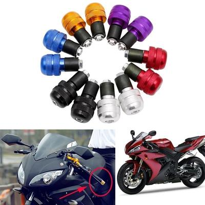 1 Pair Motorcycle Handlebar Plug Slider,7//8Handlebar Ends Weight Grip Cap