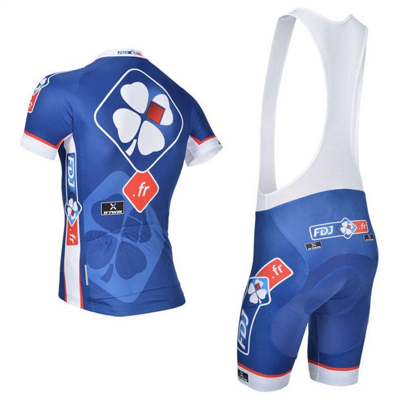 Fdj Team Cycling Jersey Bike Shorts Set Breathable Ropa Ciclismo Mtb ... 6f06514aa