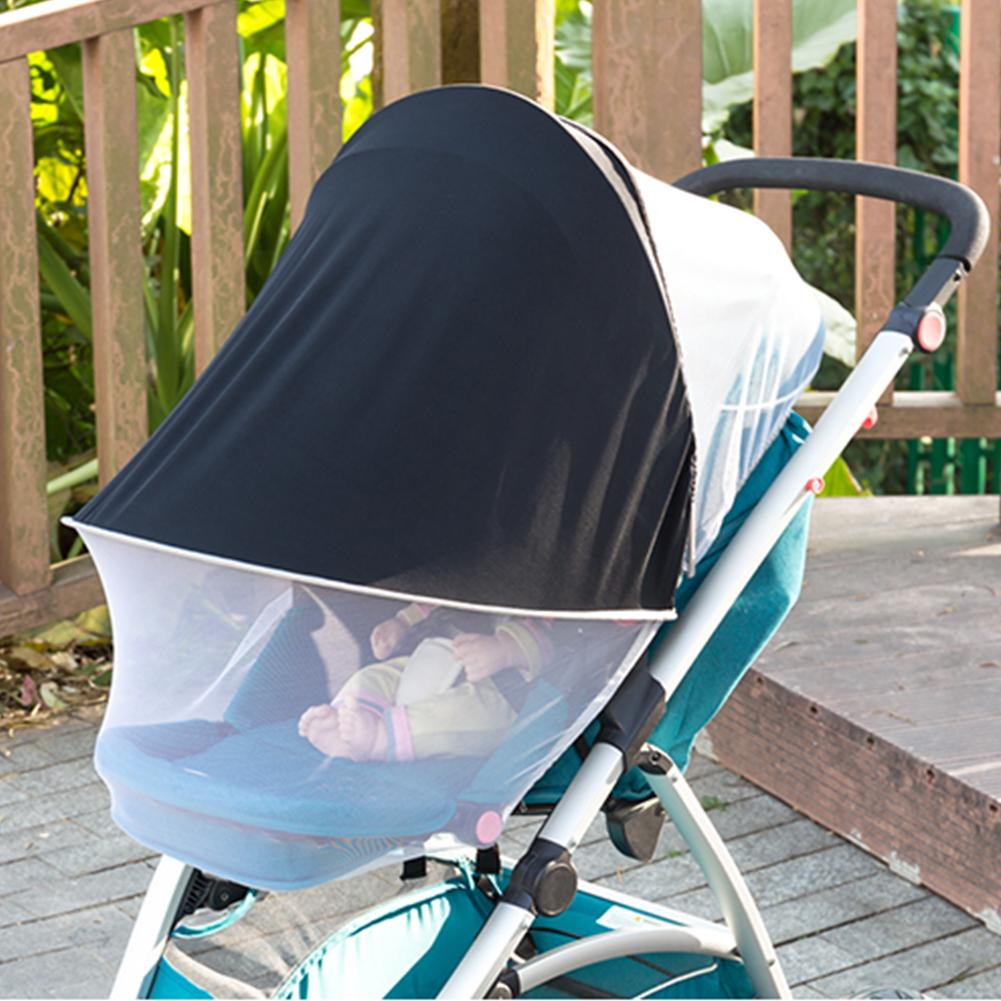 UV UPF50 Sun Shade Sun Canopy+Mosquito Net For Baby Buggy Stroller Pram Seat UK