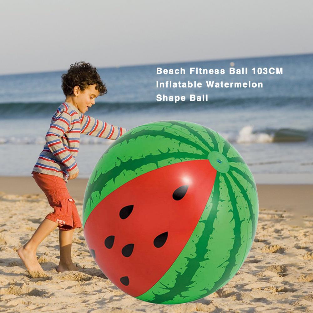 Watermelon Beach Fitness Ball Inflatable Watermelon Shape Ball for Summer Party Swimming Pool Beach Outdoor Games