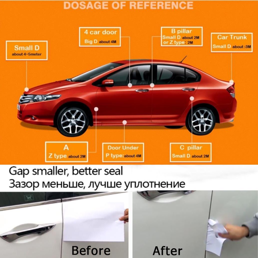 Уплотнение двери резиновый уплотнитель автомобиль газа большой D малых D Z P типа водонепроницаемый звук изоляция