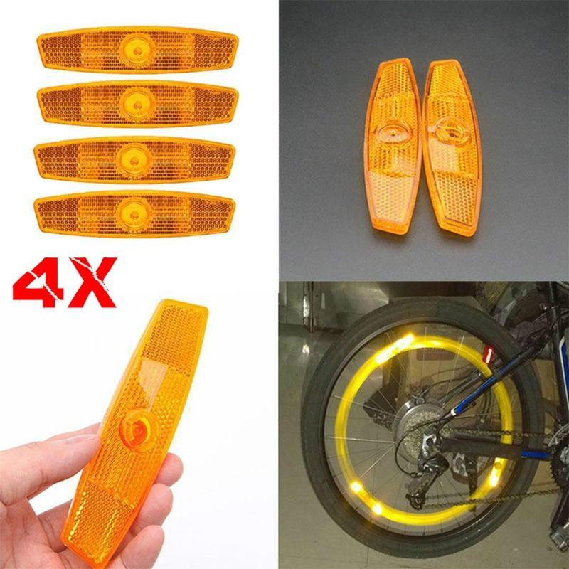 2 Pair Bicycle Bike Wheel Reflective Spoke Safe Reflectors Mountain Road Hybrids