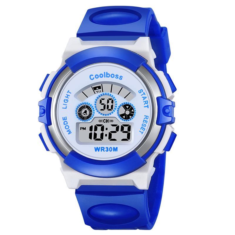 厂家直销运动手表儿童防水手表夜光学生表多功能时尚手表一件代发