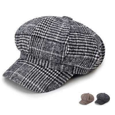 Fashion Beret Woman Cotton Retro Newsboy Cap Winter Warm Flat Hats